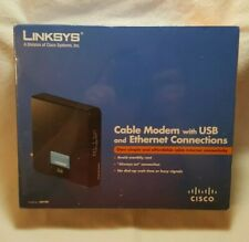 Cisco-Linksys CM100 Cable Modem with USB and Ethernet Connection NEW SEALED BOX