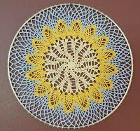 "Sunshine Crochet Doily in 12"" Ring Wall hanging, Dream Catcher, Sun Catcher"