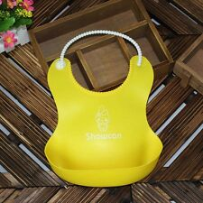 Baby Infants Kids Cute Silicone Bibs Baby Lunch Bibs Cute Waterproof YE