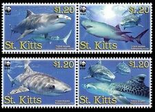 St. Kitts WWF Tiger Shark 4v SG#897/900 SC#678a-d MI#955-58