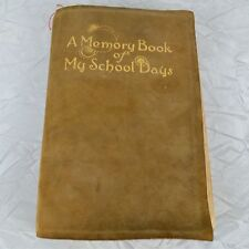 Antique 1920s School Days Memory Book Album Olive Halek Fairbury Nebraska