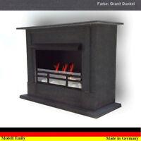 Gelkamin Ethanolkamin Kamin Fireplace Cheminee Emily Deluxe Royal Granit dunkel