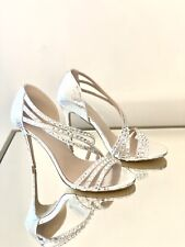 Kurt Geiger Size 6/39 Carvela Metallic Silver High Heel Sandals New Party Shoes