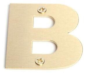 "Sandleford BRASS LETTER ""B"" 50mm +Fixings, Brushed Finish *Australian Brand"