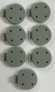 Squad Bases Light Grey (7) - Tide Of Iron Board Game Replacement Parts