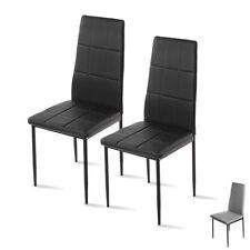 Chaises noir moderne en tissu pour la maison