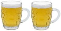 Set of 2 Heavy Glass Pint Mug Beer Glass Cup Stein Glass Mug Full Pint (560ml)