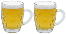 Set of 2 Heavy Glass Pint Mug Beer Glass Cup Stein Glass Mug Full Pint (560ml)