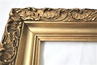 "ANTIQUE Fits 15 X 20"" Gold Picture Frame Wood ORNATE GESSO Fine Art COUNTRY"