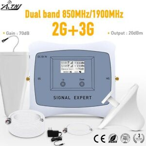 Dual Band 850/1900MHz Mobile Signal Booster 2G 3G Cell Phone Signal Repeater