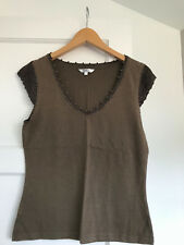 Ladies, Khaki, M & Co top, size S (10)