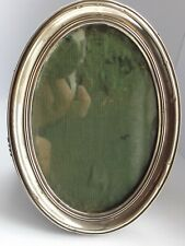 More details for oval solid silver photo frame birmingham 1915 samuel m levi  6 x 4.5 inches