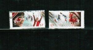 """CANADA 2010 """"CELEBRATING THE OLYMPIC SPIRIT""""  # 2374-5  USED   BK 451b"""