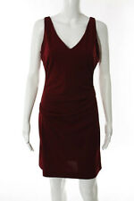 Nicole Miller Collection Red V Neck Cocktail Dress Size 8