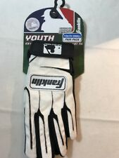 Franklin Youth Small Batting Gloves White Black New