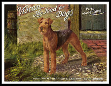 Airedale Terrier Dog Food Advert Great Vintage Style Dog Print Poster