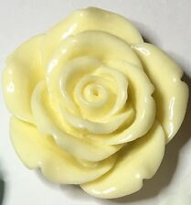 4 x Extra Large Resin Flowers - 42mm - Ivory - Crafts