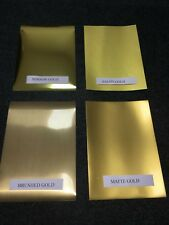A4 SELF ADHESIVE INKJET PRINTABLE VINYL SELECTION GOLD EFFECT STICKER 8 SHEETS