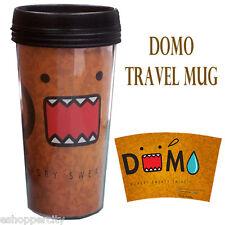 DOMO 16 oz Travel Plastic Coffee Mug Liscensed Product Gift Light Brown Japanese