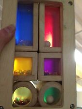 6 RAINBOW SOUND BLOCKS Stack Sort Match Color Shake WOOD BOX Waldorf WONDERWORLD