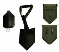 US Military E-Tool Tri-Fold Entrenching Shovel with Olive Drab Cover Surplus