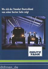 Deutz-Fahr Landmaschinen Prospekt Standort Deutschland 5/99 Broschüre 1999