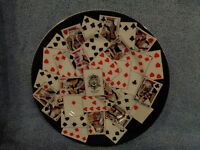 Adrea by Sadek Colonial Williamsburg Foundation Playing Cards Decorated Plate