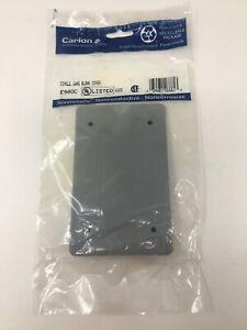 CARLON E980C Single Gang Blank cover Noncorrosive Gray Plastic NIP