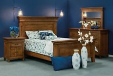 Luxury Amish Bedroom Set 4-Pc Traditional Shaker Solid Wood Whitaker Queen King