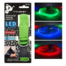 LED Dog Collar w/ 3 Light Settings Batteries Included 1 Randomized Color /Pack