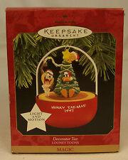Hallmark Keepsake Looney Tunes DECORATOR TAZ 1997 Magic Motion Ornament MIB