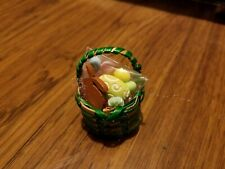 Small Green Easter Basket B for Barbie, Monster High Doll Diorama