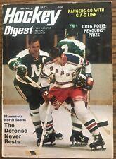 HOCKEY DIGEST January 1973 - Third Issue featuring Minnesota North Stars