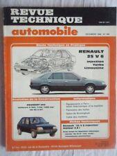 Revue Technique Automobile pour RENAULT 25 V 6 Injection Turbo Limousine