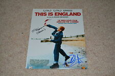 THOMAS TURGOOSE & JACK O`CONNELL signed Autogramm  A4 In Person THIS IS ENGLAND