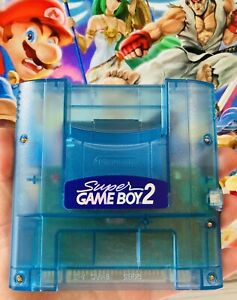 OFFICIAL Authentic Nintendo Super Gameboy 2 Famicom Japan Clear Blue Adapter