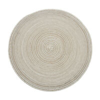 Set of 4 Round Place Mats Kitchen Dining Table Placemats Non-Slip Heat Resistant