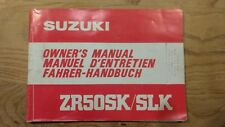 Suzuki ZR50sk/slk owners manual