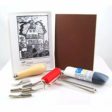Complete Lino Kit - relief, block, ink, printmaking, linoprint, linocut set