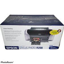 Epson Stylus Photo R200 Digital Photo Inkjet Printer Image Matching New Open Box