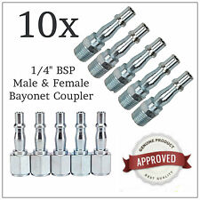 10PC QUICK RELEASE AIR LINE COUPLER CONNECTOR SET FOR AIR HOSE COMPRESSOR TOOLS