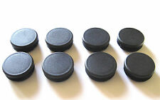 """8 - 2"""" Round Tubing Plastic Hole Plug End Cap, 2 Inch Tube Pipe Post Insert"""