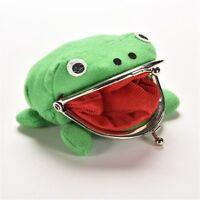 Weiche Geldbörse Aufbewahrungstasche Münzbörse Frosch aus Stoff Grün