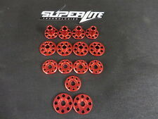 Honda Crf250 2018 Superlite Rouge 6026 perforé Aluminium Métal KIT DE MONTAGE