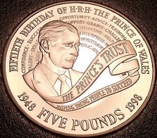 Proof Great Britain 1998 5 Pounds~50th Birthday Of Prince Charles~Free Shipping