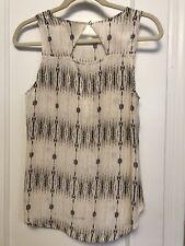 CYNTHIA ROWLEY Sleeveless Blouse Shirt Top Size SMALL 100% SILK