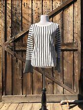 NWT Cynthia Rowley Black and White Striped Sweater Size Medium