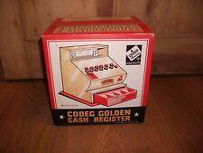 Vintage Rare CODEg 1950 60 S Golden Cash Register Till Boxed Inutilisé ~ METAL Jouet