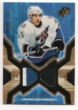 Jonas Johansson 06-07 Upper Deck SPx Dual Game-Used Jersey /1999