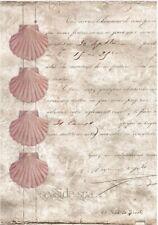 Decoupage-Bastelpapier-Softpapier-Vintage-maritim-Muschel-12381